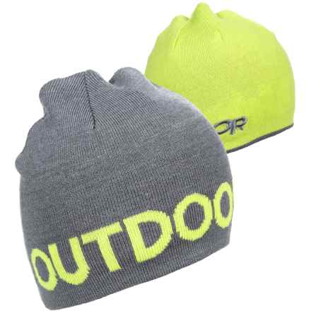 Outdoor Research Booster Beanie - Reversible (For Men) in Pewter/Lemongrass - Closeouts