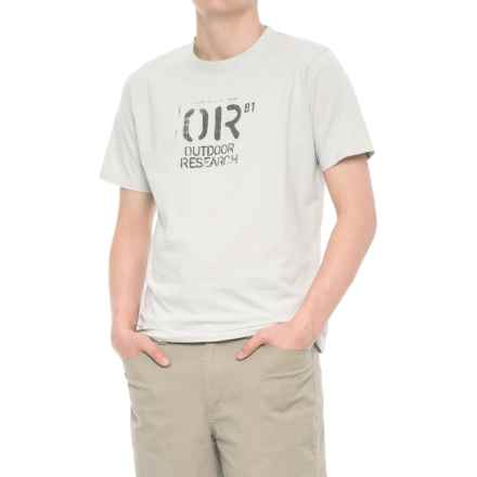 Outdoor Research Cargo T-Shirt - Short Sleeve (For Men) in Alloy - Overstock