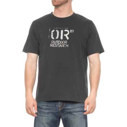 Outdoor Research Cargo T-Shirt - Short Sleeve (For Men) in Black - Overstock