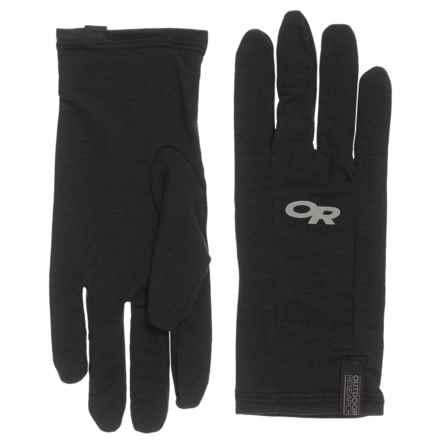 Outdoor Research Catalyzer Glove Liners - Merino Wool (For Men) in Black - Overstock