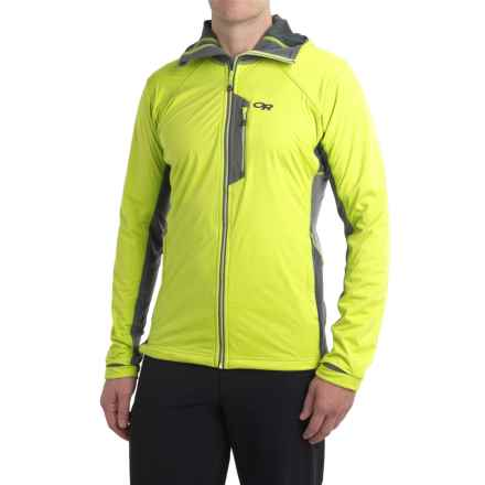 Outdoor Research Centrifuge Jacket (For Men) in Lemongrass/Pewter - Closeouts