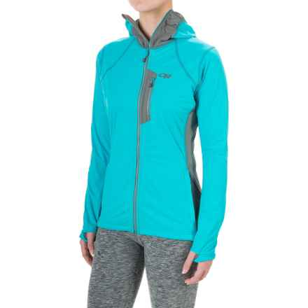 Outdoor Research Centrifuge Jacket (For Women) in Pewter/Typhoon - Closeouts