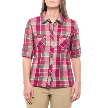 Outdoor Research Ceres Flannel Shirt - Long Sleeve (For Women) in  Raspberry Pewter e65462d73