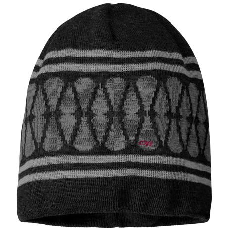 Outdoor Research Charmed Beanie Hat (For Women) in Black/Trillium