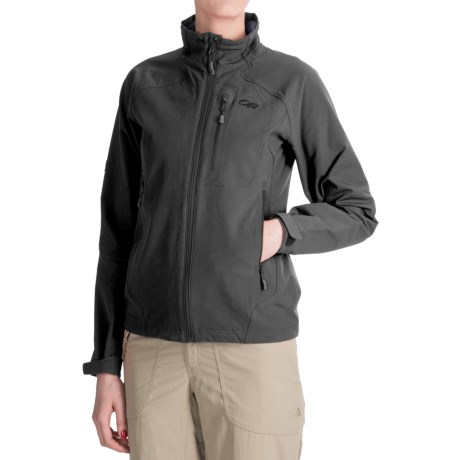 Outdoor Research Cirque Soft Shell Jacket (For Women) in Black