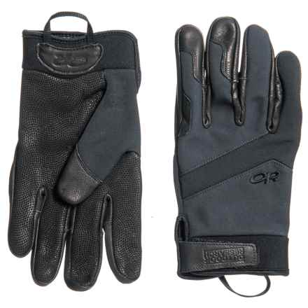 Outdoor Research Coldshot Tactical Gloves - Goat Leather (For Men and Women) in All Black - Closeouts