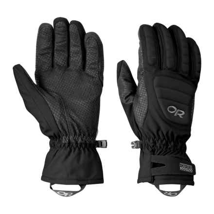 Outdoor Research Contact Gloves - Insulated, Pittards® Leather (For Men and Women) in Black - Closeouts