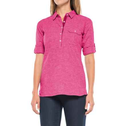 Outdoor Research Coralie Shirt - Hemp-Organic Cotton, Long Sleeve (For Women) in Sangria - Closeouts