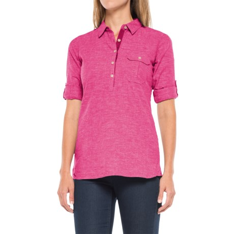 Outdoor Research Coralie Shirt - Hemp-Organic Cotton, Long Sleeve (For Women) in Sangria