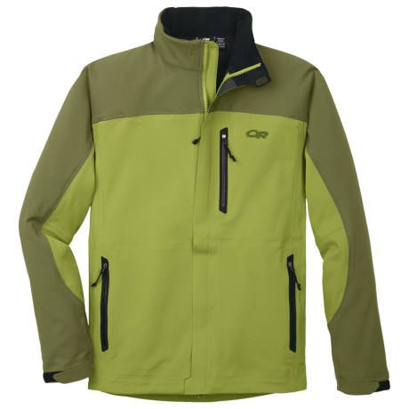 Outdoor Research Credo Soft Shell Jacket (For Men) in Avocado/Olive