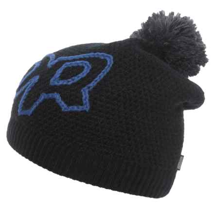 Outdoor Research Delegate Beanie Hat - Merino Wool (For Men and Women) in Black/Hydro - Closeouts