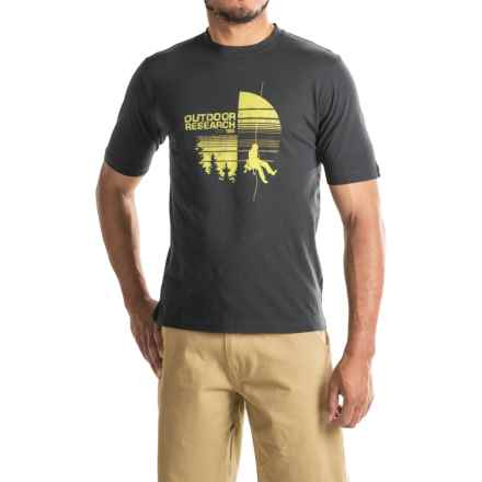 Outdoor Research Descender T-Shirt - Short Sleeve (For Men) in Black - Closeouts