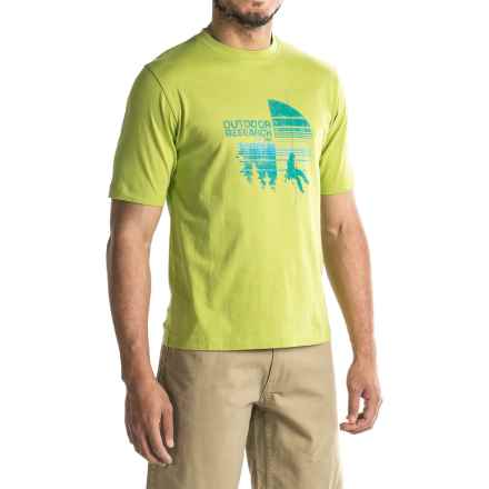 Outdoor Research Descender T-Shirt - Short Sleeve (For Men) in Palm - Closeouts