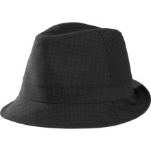 Outdoor Research Detour Fedora Hat - Waterproof (For Men and Women) in Black Check - Closeouts