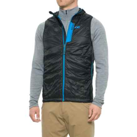 Outdoor Research Deviator Hooded Vest - Insulated (For Men) in Black/Tahoe - Closeouts