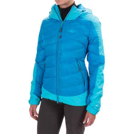 Outdoor Research Diode Hooded Down Jacket - Insulated (For Women) in Hydro/Rio - Closeouts