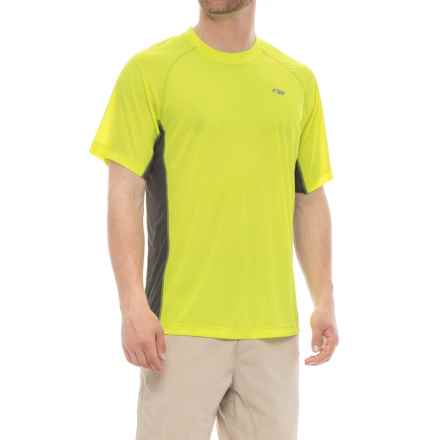 Outdoor Research Echo Duo T-Shirt - UPF 15, Short Sleeve (For Men) in Jolt/Pewter - Closeouts