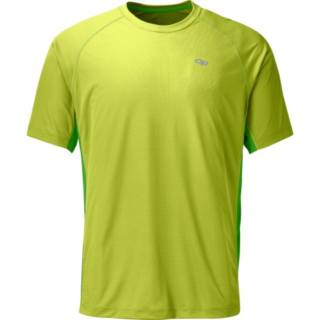 Outdoor Research Echo Duo T-Shirt - UPF 15, Short Sleeve (For Men) in Lemongrass/Flash