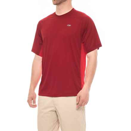 Outdoor Research Echo Duo T-Shirt - UPF 15, Short Sleeve (For Men) in Redwood/Hot Sauce - Closeouts