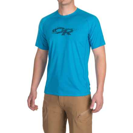 Outdoor Research Echo Graphic T-Shirt - UPF 15, Short Sleeve (For Men) in Hydro/Night - Closeouts