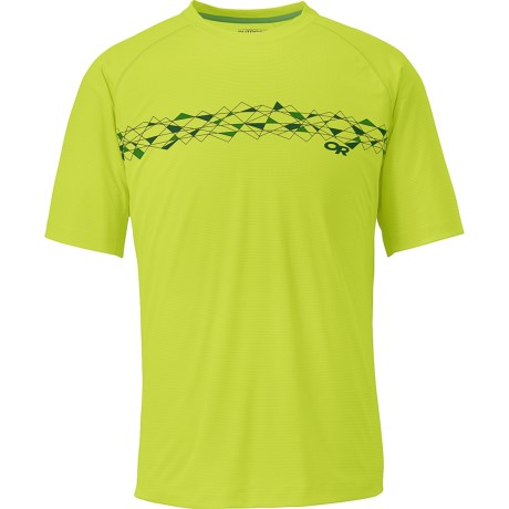 Outdoor Research Echo Graphic T-Shirt - UPF 15, Short Sleeve (For Men) in Lemongrass