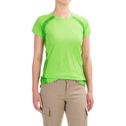 Outdoor Research Echo Graphic T-Shirt - UPF 15, Short Sleeve (For Women) in Apple/Flash - Closeouts