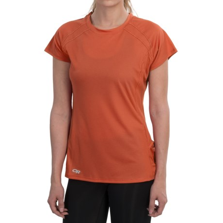 Outdoor Research Echo Graphic T-Shirt - UPF 15, Short Sleeve (For Women) in Flamingo