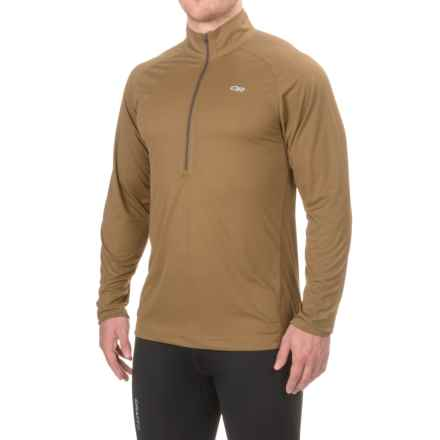 Outdoor Research Echo Shirt - UPF 15, Zip Neck, Long Sleeve (For Men) in Coyote - Closeouts