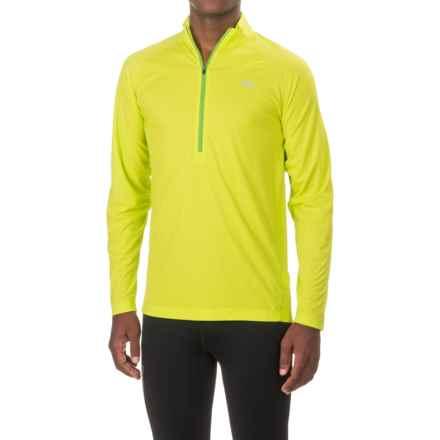 Outdoor Research Echo Shirt - UPF 15, Zip Neck, Long Sleeve (For Men) in Lemongrass/Flash - Closeouts