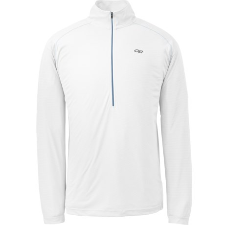 Outdoor Research Echo Shirt - UPF 15, Zip Neck, Long Sleeve (For Men) in Hydro