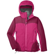Outdoor Research Enigma Gore-Tex® Performance Shell Jacket - Waterproof (For Women) in Desert Sunrise/Mulberry - Closeouts