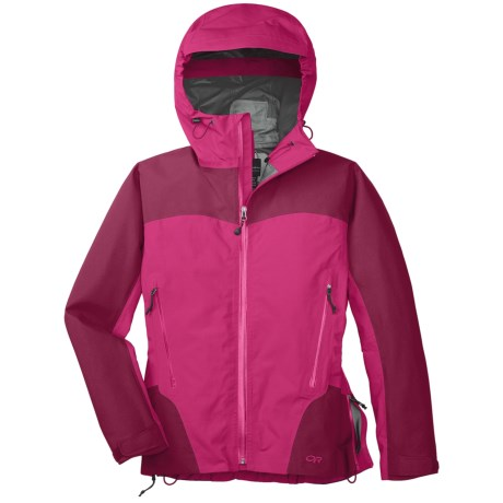 Outdoor Research Enigma Gore-Tex® Performance Shell Jacket - Waterproof (For Women) in Desert Sunrise/Mulberry