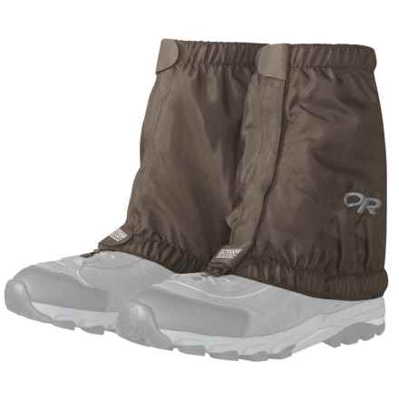 Outdoor Research Esker Low Gaiters (For Men and Women) in Mushroom - Closeouts
