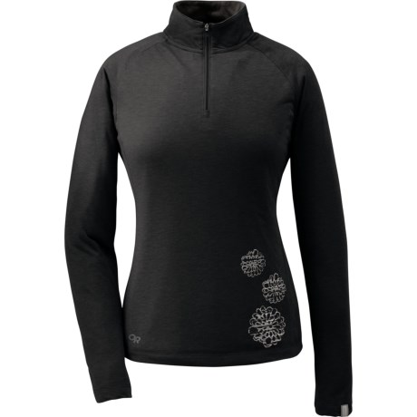 Outdoor Research Essence Shirt - Zip Neck, Long Sleeve (For Women) in Black