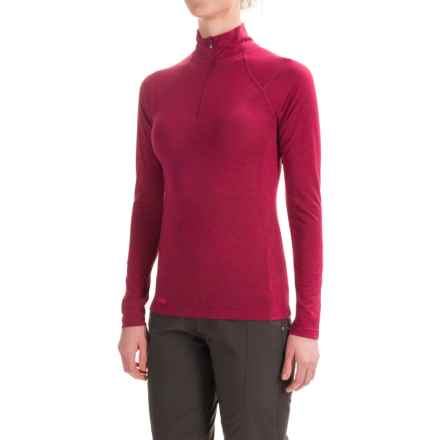Outdoor Research Essence Shirt - Zip Neck, Long Sleeve (For Women) in Mulberry/Desert Sunrise - Closeouts