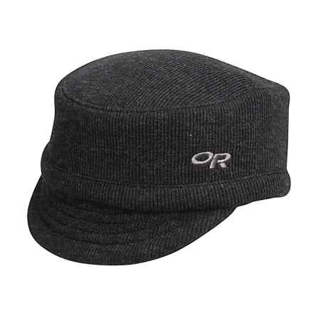 Outdoor Research Exit Wool Cap (For Men and Women) in Black - Closeouts