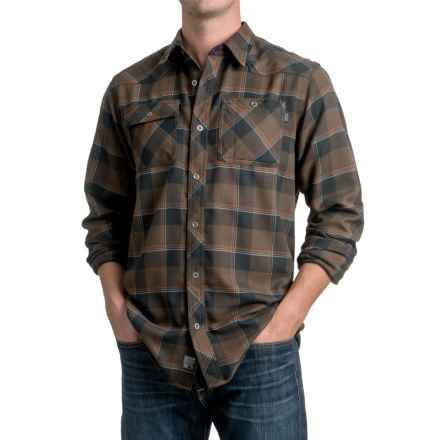 Outdoor Research Feedback Flannel Shirt - Long Sleeve (For Men) in Earth/Black - Closeouts