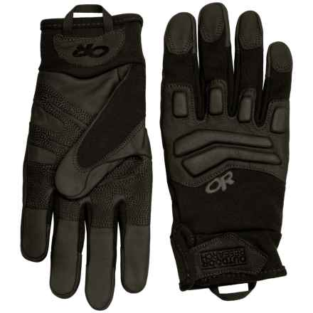 Outdoor Research Firemark Gloves - Goat Leather (For Men and Women) in All Black - Closeouts