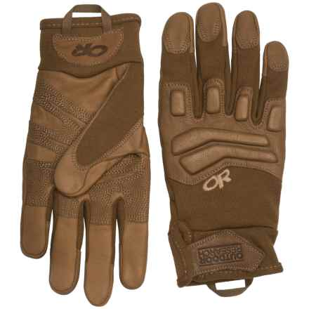 Outdoor Research Firemark Gloves - Goat Leather (For Men and Women) in Coyote - Closeouts