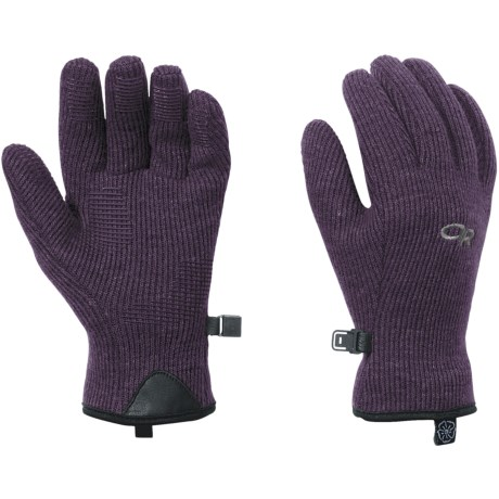Outdoor Research Flurry Gloves (For Women) in Eggplant