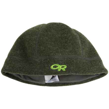 Outdoor Research Flurry Wool Beanie  - Fleece Ear Band (For Little and Big Kids) in Evergreen - Closeouts