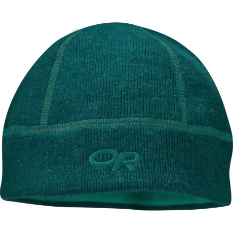 Outdoor Research Flurry Wool Beanie Hat (For Men and Women) in Atlantis