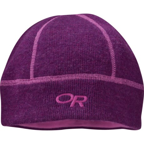 Outdoor Research Flurry Wool Beanie Hat (For Men and Women) in Orchid