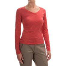 Outdoor Research Flyway Shirt - V-Neck, Long Sleeve (For Women) in Adobe/Bahama - Closeouts