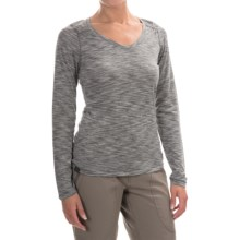 Outdoor Research Flyway Shirt - V-Neck, Long Sleeve (For Women) in Pewter/Alloy - Closeouts
