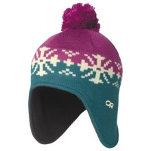 Outdoor Research Frosty Hat - Ear Flaps (For Kids) in Fuchsia/Turquoise - Closeouts