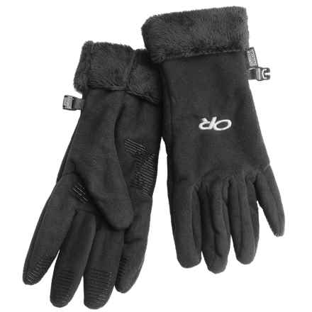 Outdoor Research Fuzzy Gloves (For Women) in Black - Closeouts