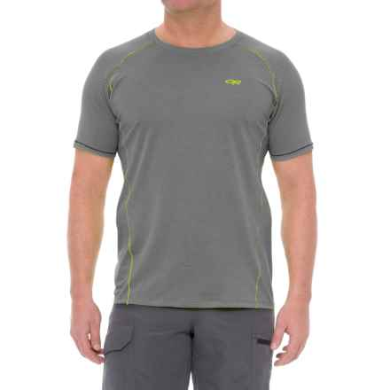 Outdoor Research Gauge Polartec® Delta® T-Shirt - Short Sleeve (For Men) in Pewter - Closeouts