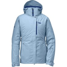 Outdoor Research glow Jacket - Waterproof, Insulated (For Women) in Atmosphere - Closeouts