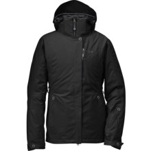 Outdoor Research glow Jacket - Waterproof, Insulated (For Women) in Black - Closeouts